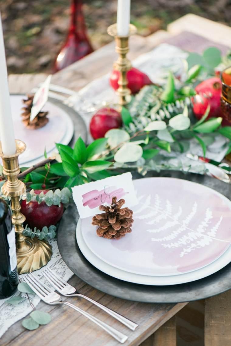 decorar mesa piñás pino