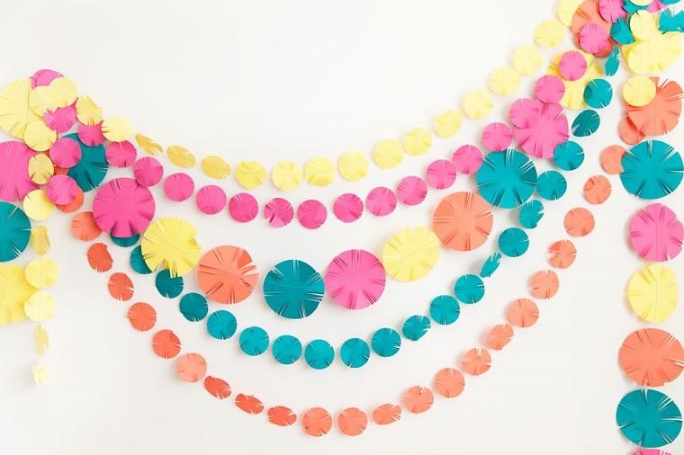 guirnaldas círculos colores