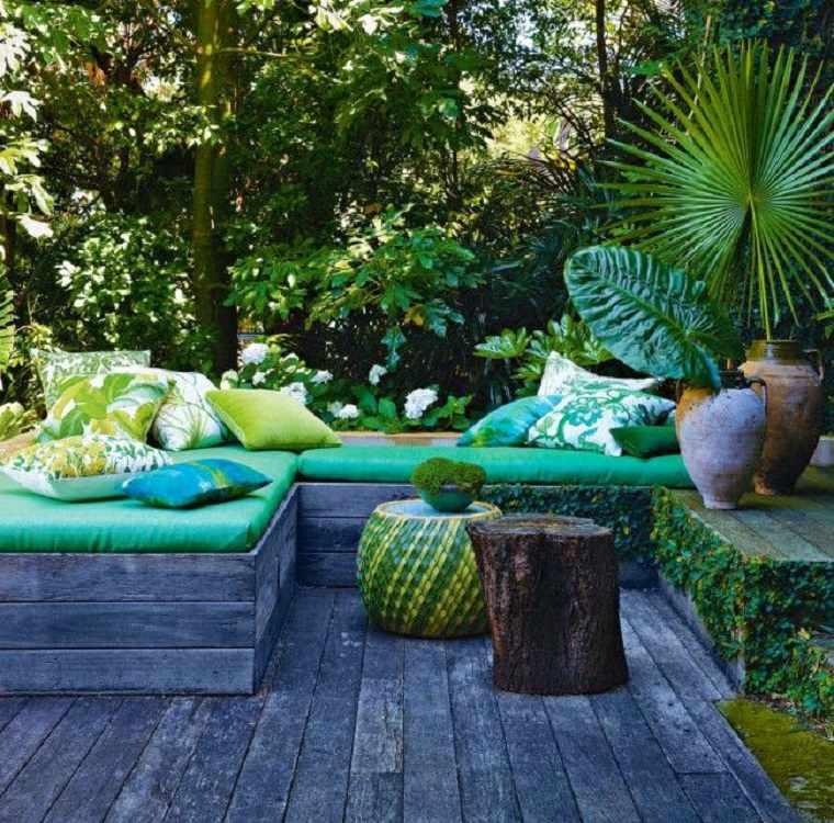 bonita terraza chll verde