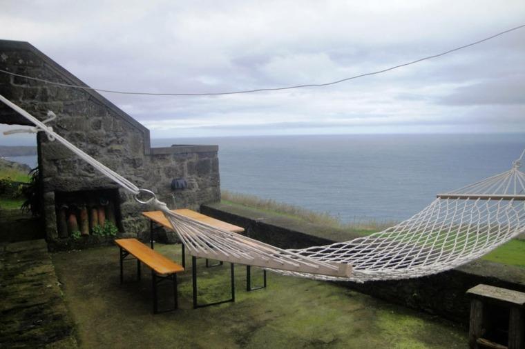 terraza hamaca clásica