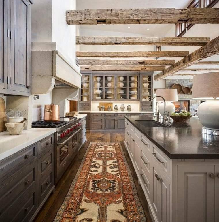 bonita cocina estilo rustico