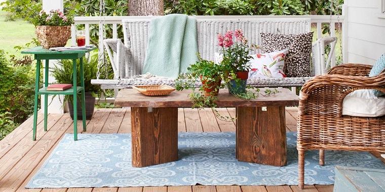 bonita terraza mesa madera