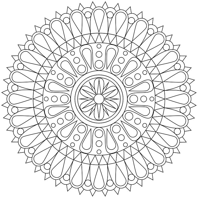 plantilla Mandala