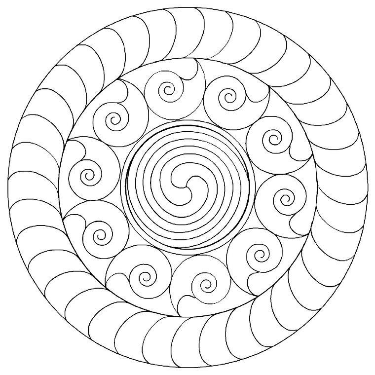 diseño Mandala caracoles