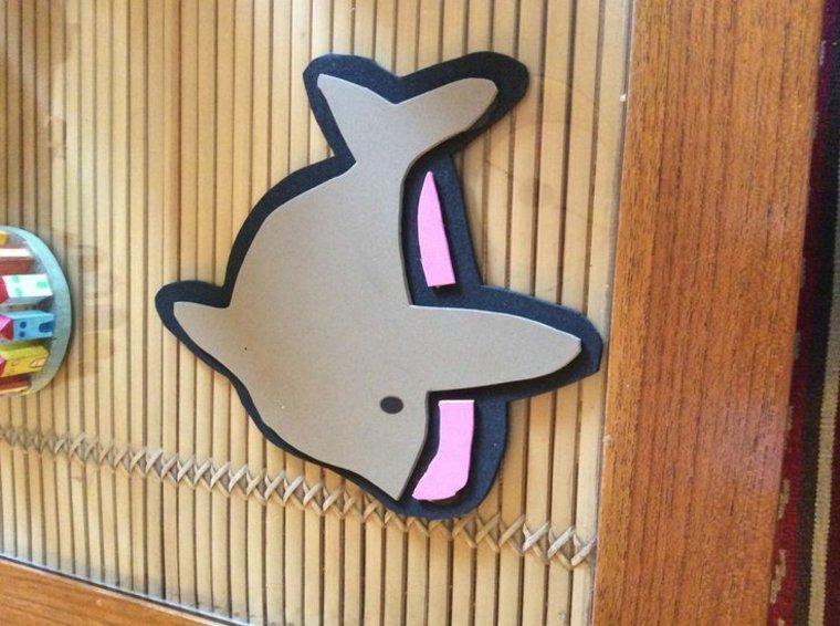 bonito delfin decorativo goma eva