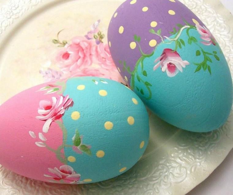 como decorar un huevo de Pascua flores