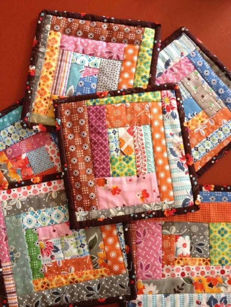 diseños originales bandejas patchwork