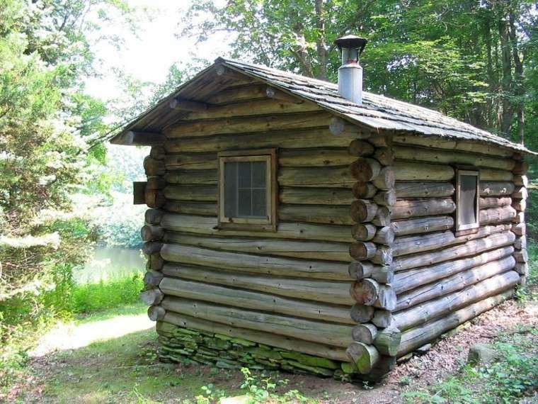 cabaña troncos madera