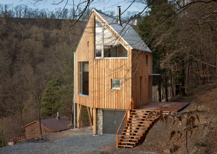 cabaña madera diseño moderno