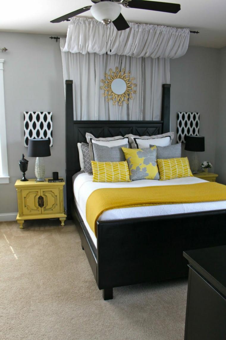 camas diseños amarillo conceptos salas amarillo