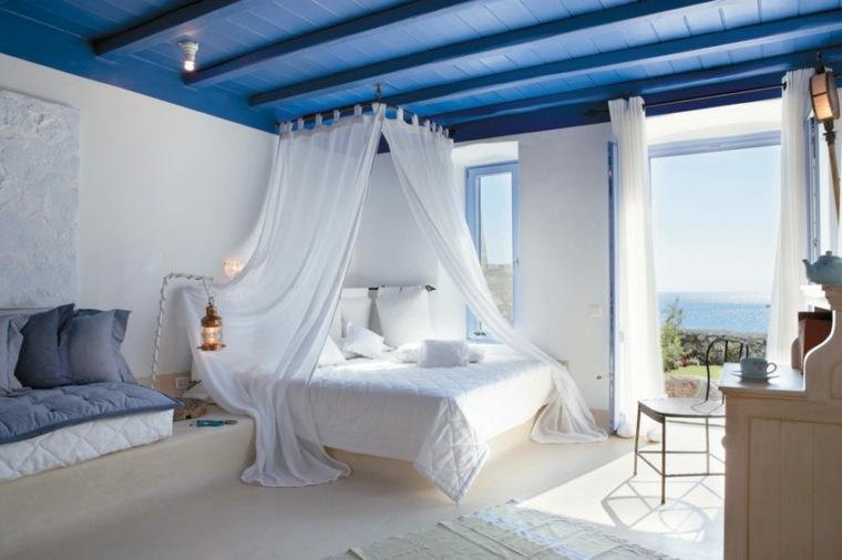 camas diseños marineas estilos colores techados