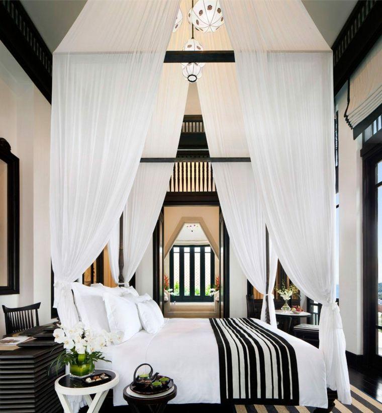 Camas dise os con dosel para dormitorios elegantes for Dormitorios elegantes