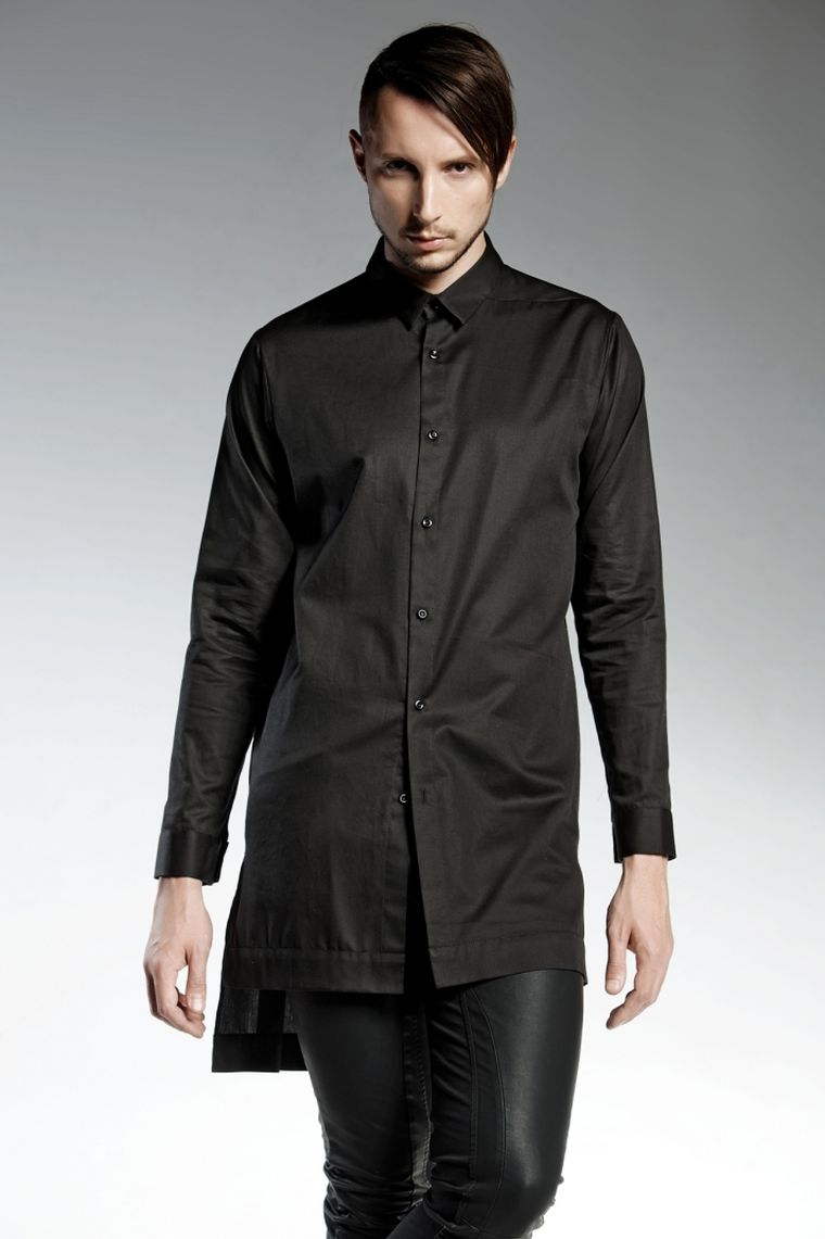 camisa color negro starling algodon diseno pendari ideas