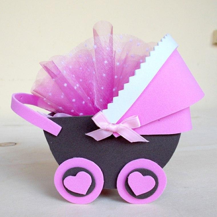 carrito bebé goma eva
