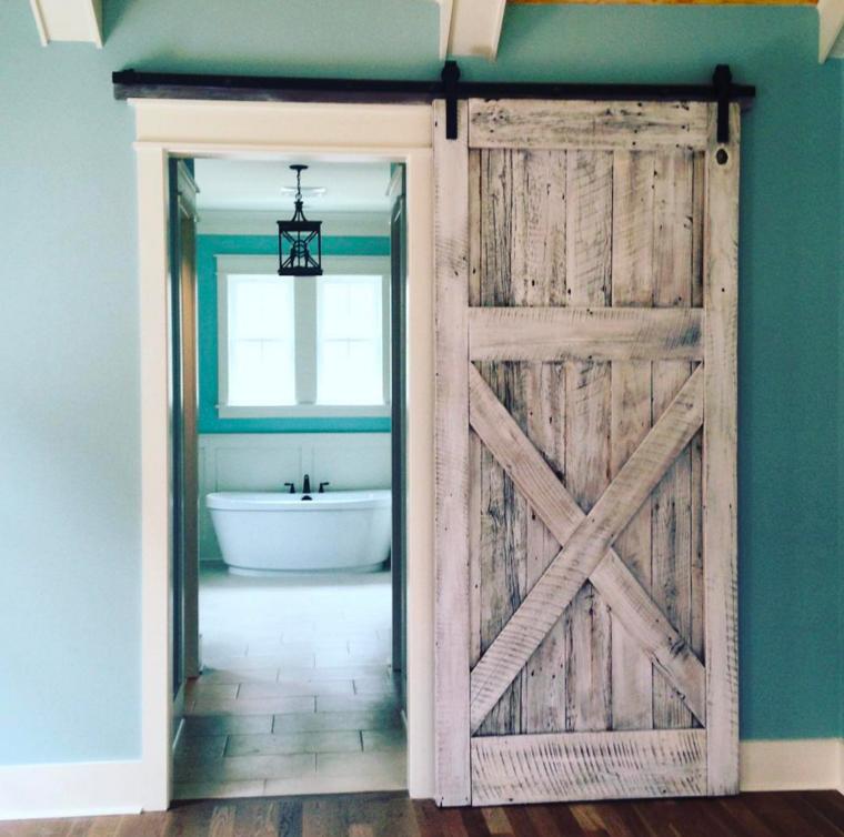 Puertas correderas para optimizar espacios peque os - Puertas para banos pequenos ...