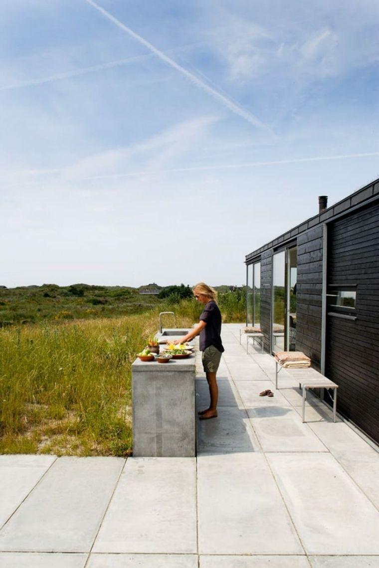 casa playa hormigon estilo cocinas muebles