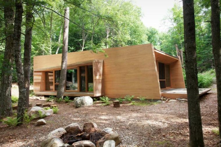 diseño casa madera moderna
