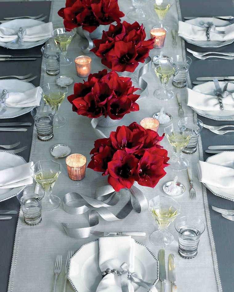 centros de flores decorar boda evento flores color rojo ideas