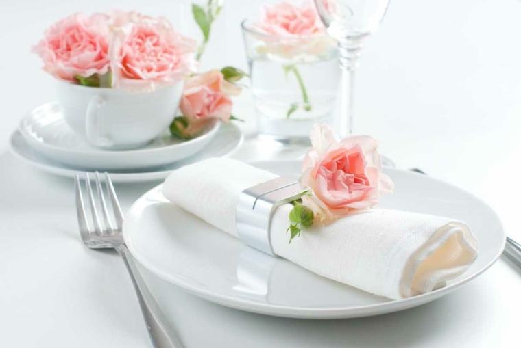 centros de flores decorar boda evento flores color rosa ideas