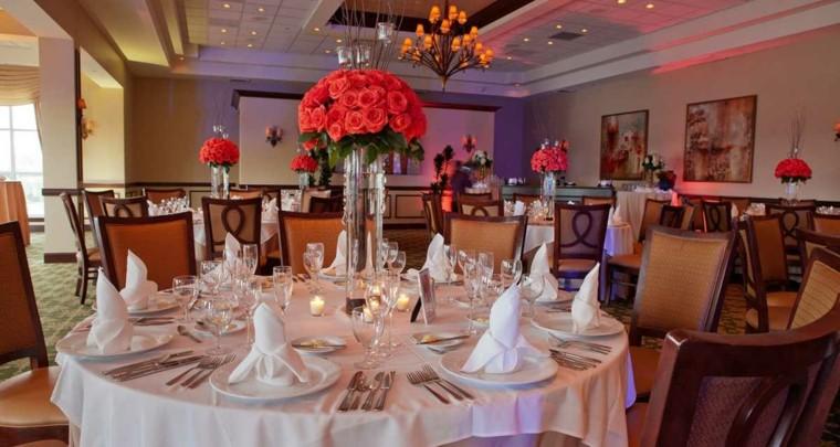 centros de flores decorar boda evento jarron cristal ideas