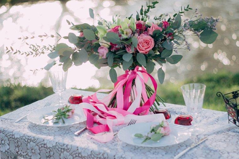 centros de flores decorar boda evento lazos decoracion ideas