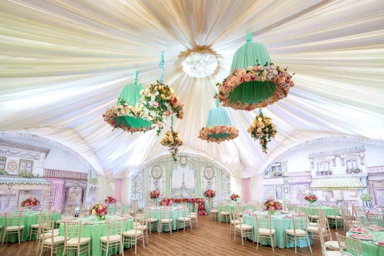 centros de flores decorar boda evento sala banquetes ideas