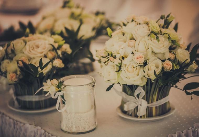 centros de flores ramos bellos decorar boda evento vintage ideas