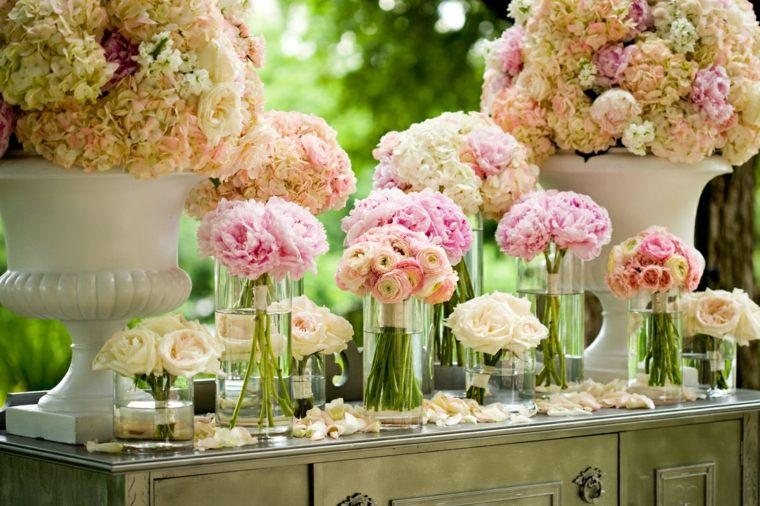 centros de flores ramos bellos decorar boda evento ideas