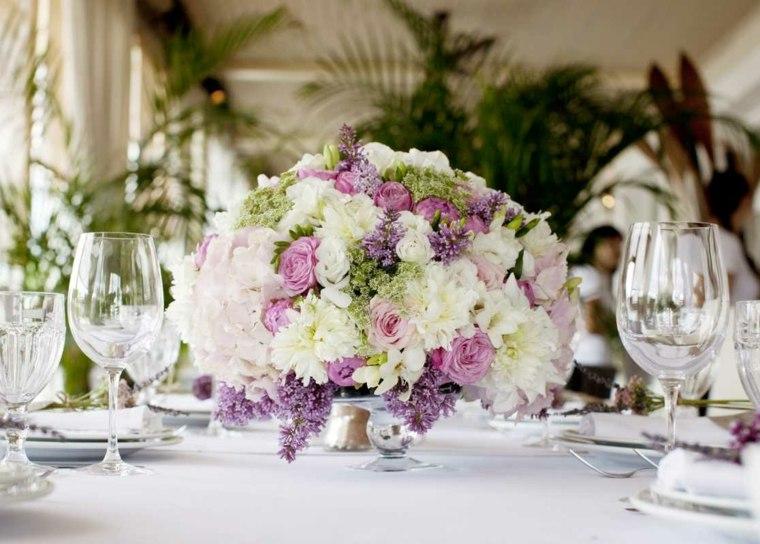 centros de flores ramos bellos decorar mesa opciones ideas