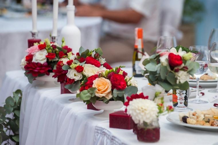 centros de flores ramos pequenos decorar boda evento ideas