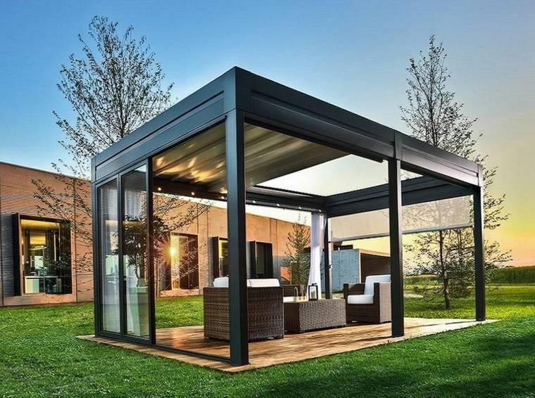 ideas decoraciones exteriores abierta metalica formas