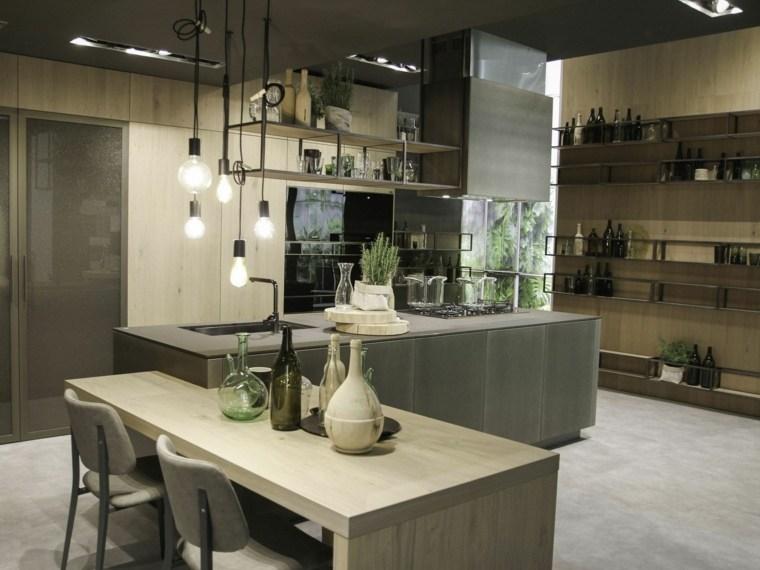 cocina diseno comedor simple detalles industrial ideas