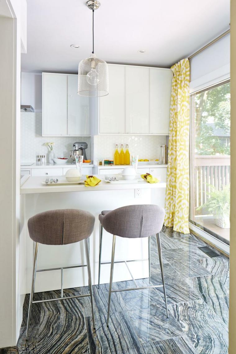 Cocinas blancas ideas pr cticas para diferentes estilos for Cortinas amarillas