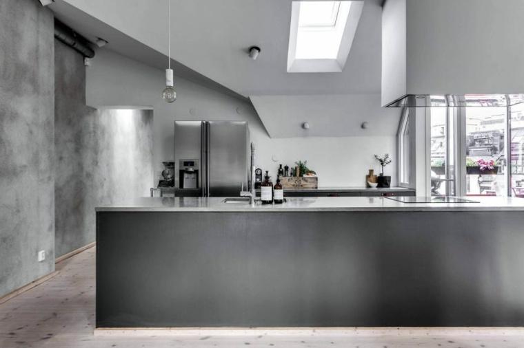cocinas modernas diseno gris DesignFolder ideas