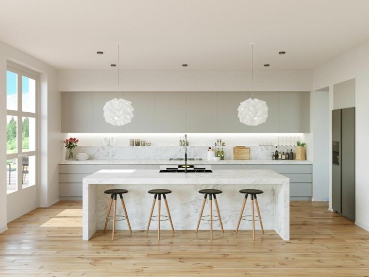 Cocinas modernas fotos de dise os asombrosos y funcionales for Cocinas claras modernas