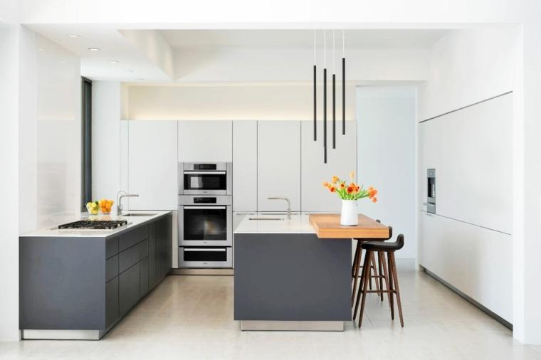 cocinas modernas fotos minimalistas especiales grises