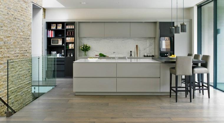 cocinas modernas fotos salpicadro marmol efectos