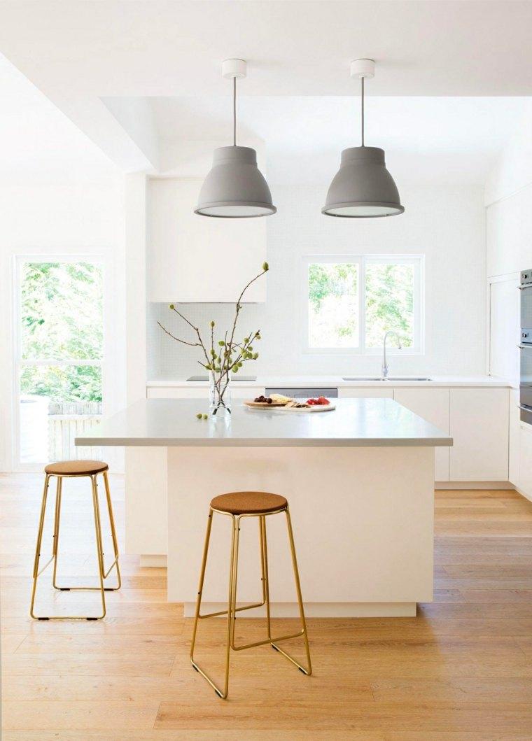 cocinas modernas fotos simple luminosa lamparas