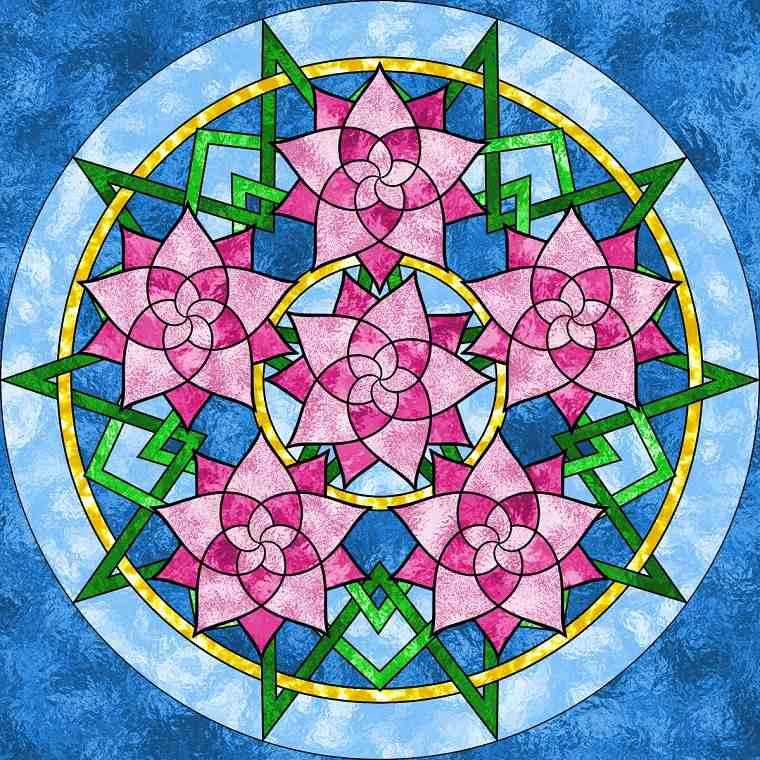 formas colorear Mandalas