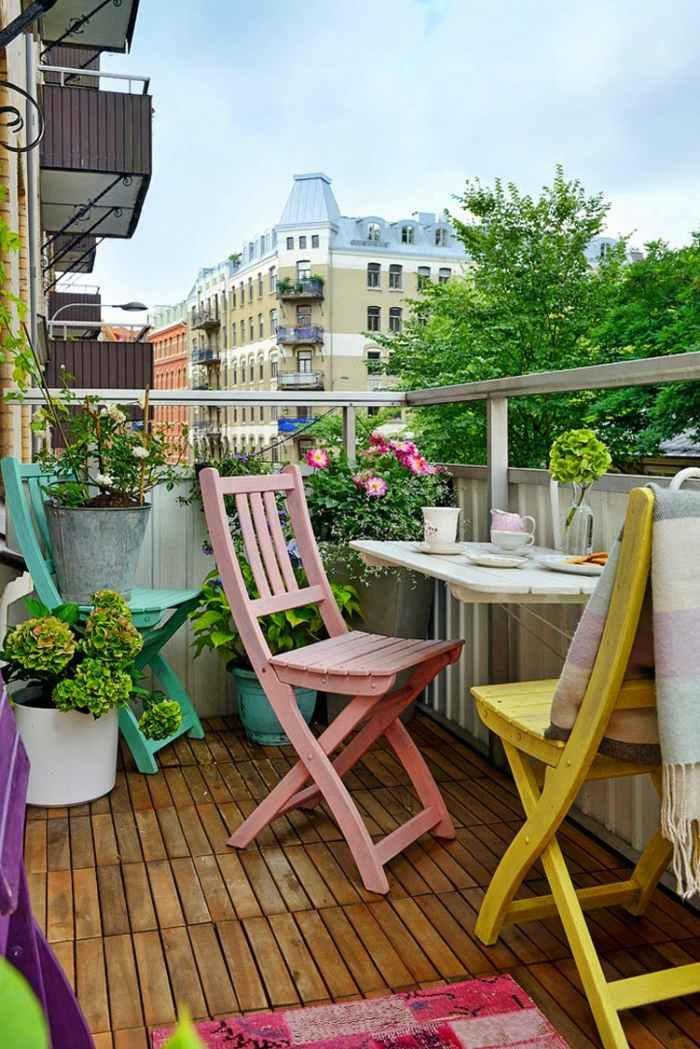 colores diferentes sillas balcones plegables