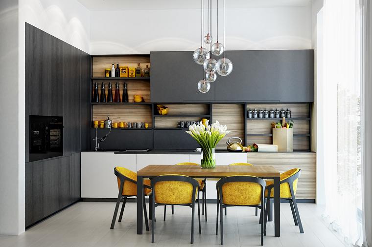 combinacion amarillo grises acentos modernos sillones