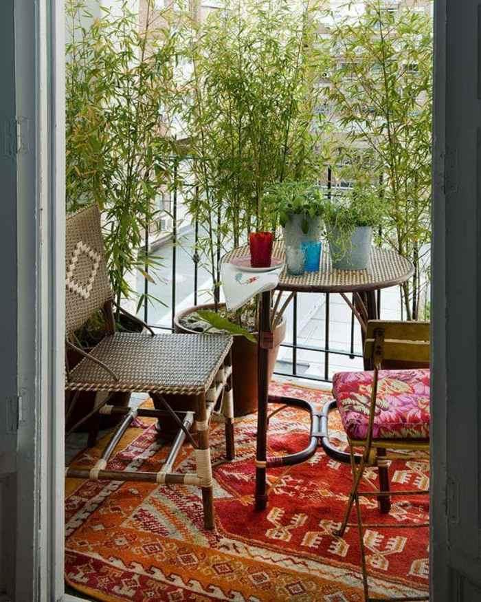 como decorar un balcon pequeño alfombras suelos muestras
