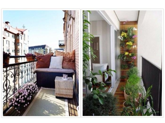 como decorar un balcon pequeño diversidad plantas cajones