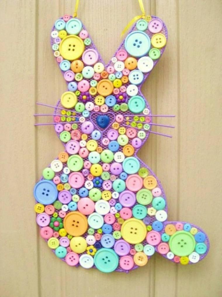 conejo botones colores