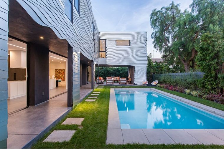 conexion paisajes zonas casa moderna senderos