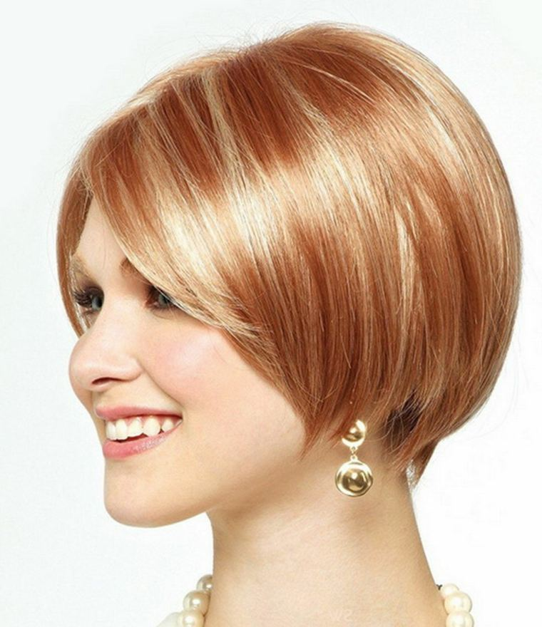 Golden brown hair with blonde and red highlights