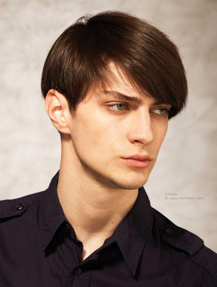 cortes de pelo hombre flequillo