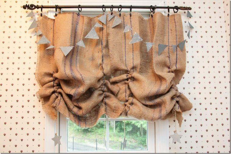 cortinas ideas combinadas guirnaldas diy