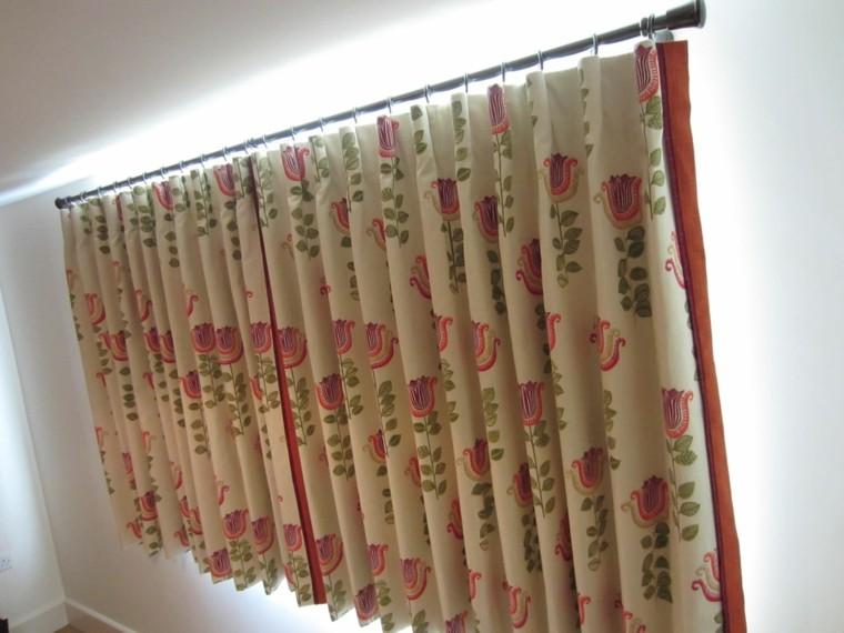 cortinas ideas florales estilos metales