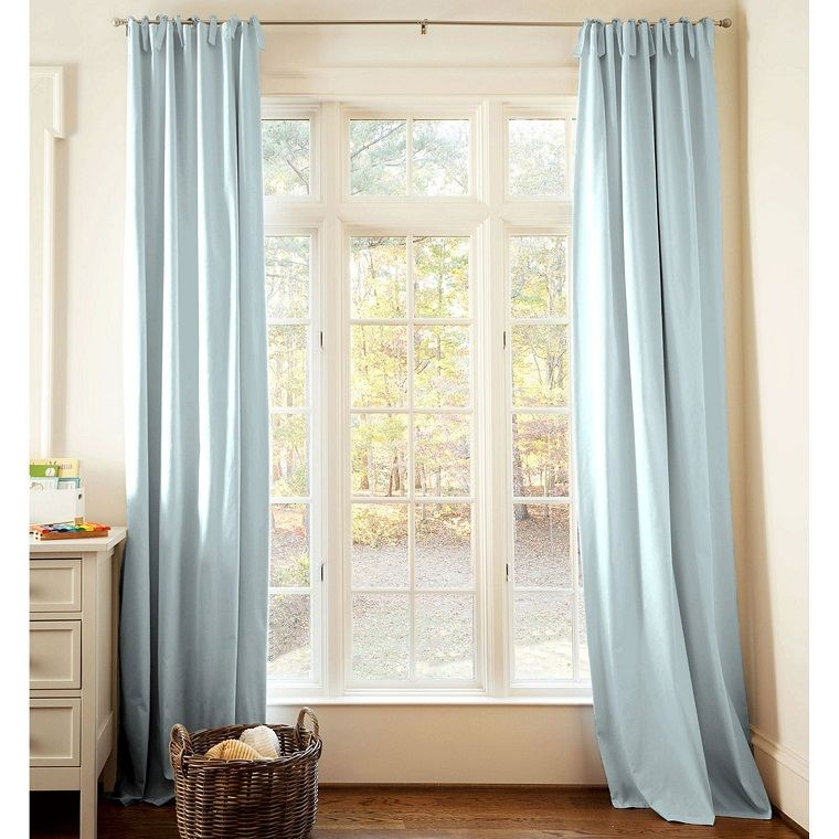 cortinas color celeste
